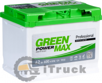 Аккумулятор GREEN POWER Max 62 Ah, L, EN600, (д242xш175xв190)